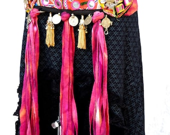 Tribal belt, Ethnic bellydance belt, tribal fusion belt