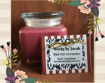 RED HOT CINNAMON 10-oz. soy candle