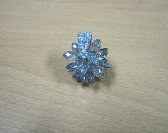 Black Diamond Briolette Crystal Pendant (1pc)