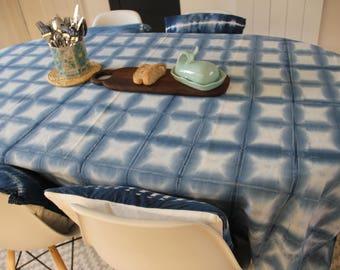 Shibori Indigo Tablecloth