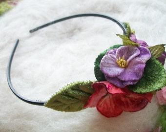 Flower Headband Little Pixie Party Headband Flower Hair Accessory Wedding Shower Ren Fair Flower Fairy Flower Child Hippie Flower Girl