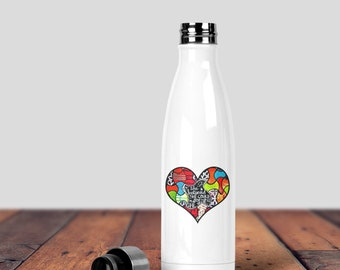 Water Bottle, Inspirational Water Bottle, She Believe She Could, Inspiration Water Bottle, Inspirational Quote, Stainless Water Bottle,