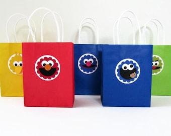 Sesame Street Favor Bags - SMALL - Set of 10