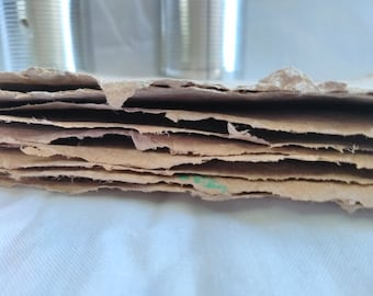 Kraft Handmade Recycled Paper Sheets