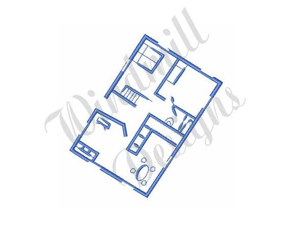 Floor plan blueprint machine embroidery design from floor plan blueprint machine embroidery design from designsbywindmill on etsy studio malvernweather Image collections