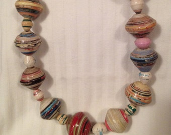 FREE SHIPPING - Handmade Bead Necklace - Style 4 - Multi