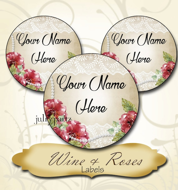 Personalized Circle Labels Custom Circle Stickers Order Circle Personalized  Circle Labels