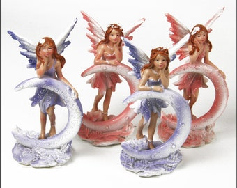 """4"""" Fairies with Moons - Set of 4 Fairies"""