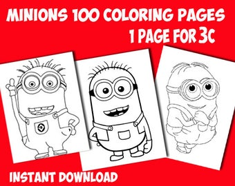 Minions coloring pages. Printable coloring pages. Printable coloring pages for children.