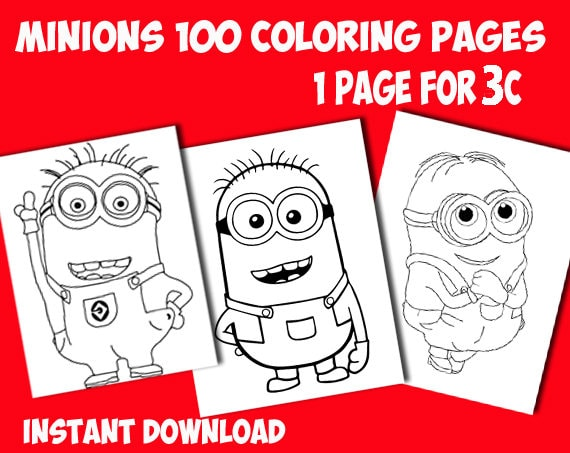 Minions coloring pages. Printable coloring pages. Printable