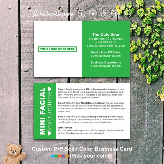 Rodan and fields business cards green solid block color reheart Image collections