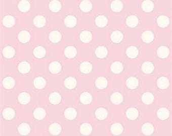 Le Creme Medium Dots from Riley Blake Baby Pink by 1 yard