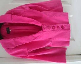 Stylish Pink Corduroy Short Jacket (Formal)