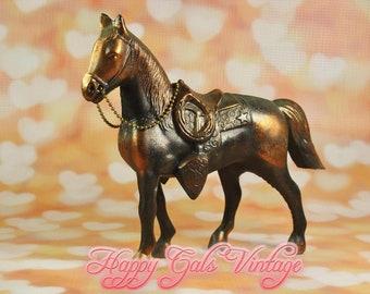 Metal Horse Figurine, Vintage Cast Metal Horse, Copper Horse Figurine, Vintage Copper Horse, Metal Horse Sculpture, Vintage Toy Metal Horse