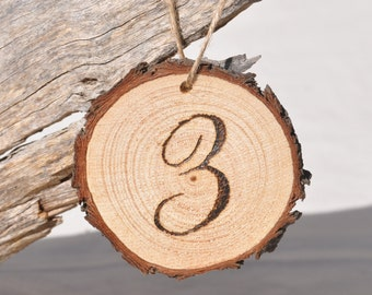 Hanging Table Numbers for Wedding, Wood Table Numbers Wedding, Wedding Table Numbers, Rustic Wooden Table Numbers, Wood Slice Table Numbers