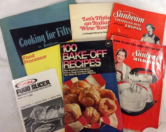Vintage recipe & appliance books