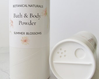 Summer Blossoms Bath & Body Powder, Talc Free Dusting Powder