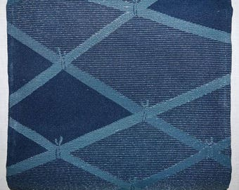 Vintage Japanese Obi Kimono Belt Sash Fukuro Style - Many Blues