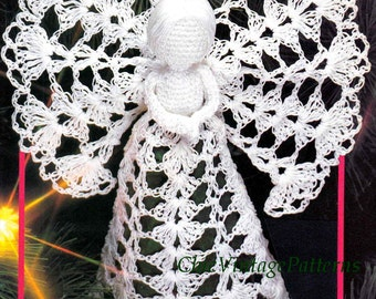 Christmas Angel Pattern .. Crochet Tree Top Angel .. PDF Crochet Pattern .. Christmas Decoration .. Family Heirloom .. Instant Download