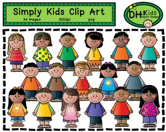 Kids Clip Art - Simply Kids Art - Digital Clipart - Instant Download