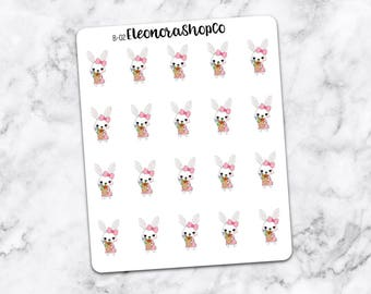 BUNNY in grocery TIME stickers — B-02