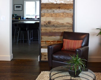 Barn Doors In Reclaimed Wood   Tracks Included