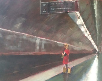 Girl at Oslo Train Station