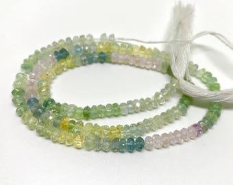 Multi Aquamarine Faceted Beads Mix Colour Aquamarine 4mm faceted beads