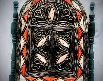 free shipping mirror frame with doors Moroccan mosaic Morocco ethnic crafts Hand Made