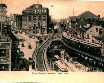 Cooper Union, New York City NYC 1906 REPRO Vintage Postcard R282428