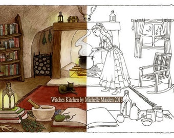 Colouring Pages Boy Girl : Adult coloring pages etsy
