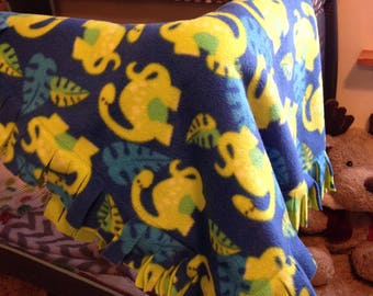 Hungry Dinosaur Fleece Blanket