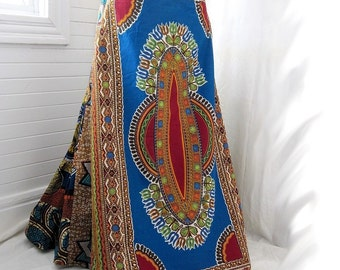 Wandering Mystic - Patchwork African Gypsy Bustle Skirt, Sizes - S, M, L