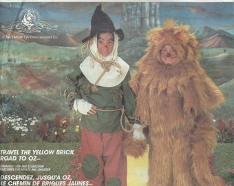 UNCUT Men and Women's Costume Sewing Pattern McCall's 2203 Halloween Costume, Cowardly Lion, Scare Crow, Wizard of Oz