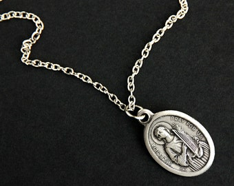 Saint anastasia necklace christian necklace st anastasia saint cecilia necklace catholic saint necklace st cecilia medal necklace patron saint necklace mozeypictures Choice Image