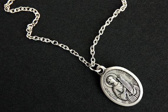 Saint cecilia necklace catholic saint necklace st cecilia aloadofball Gallery