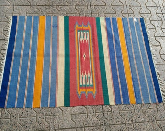 türkish rug. small rug. vintage rug. kilims. handmade kilim. naturel rug.  colorful rug. Small rug. Oushak rug. Hand woven rug. Home decor.