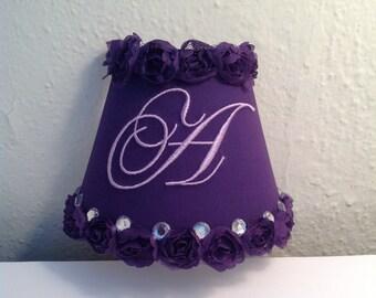 Purple Roses Monogrammed Night Light