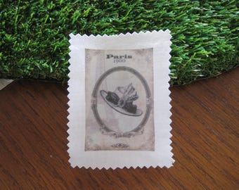 Image transfer, a thimble, sewing, textile customisation, vintage, old hat