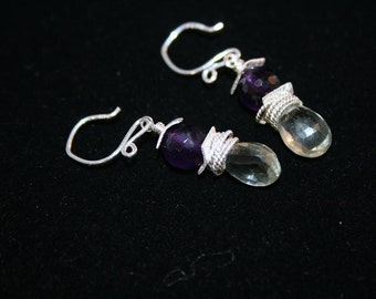 SPRING IN SIDI BEL Amethyst and Sterling Earring