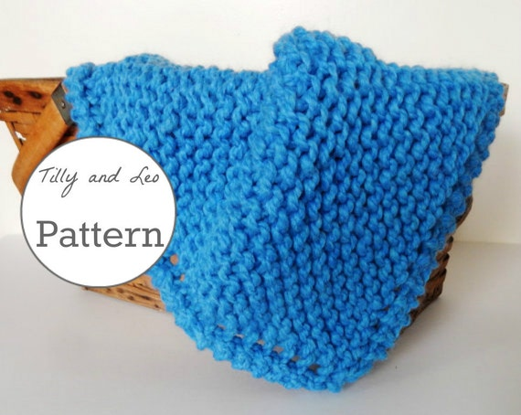 Knitting Pattern Chunky Knit Wool Baby Blanket Baby Throw