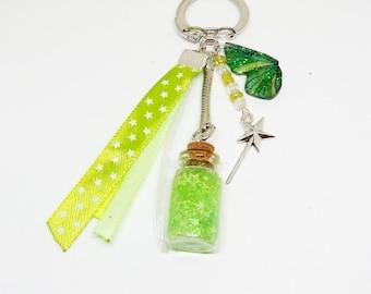 Porte clef / Bijou de sac féerique vert