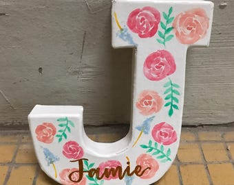 Handpainted Letter Blocks