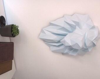 Paper Trophy  Lion Head DIY papercraft.
