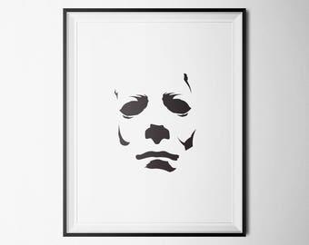 Michael Myers, Halloween Poster, Wall Art, Halloween Art, Multiple Sizes, Horror Poster, Minimalist