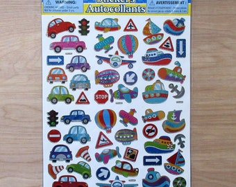 Cars Planes and Boat Stickers~Super Cute!