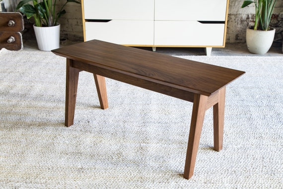 Modern Bench Walnut Dining Table Wooden