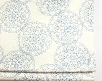 John Robshaw Danda for Duralee Roman Shade (shown in Light Blue-comes in 4 colors)