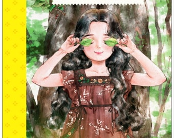 Aeppol - Forest Girl's - Postcard Book