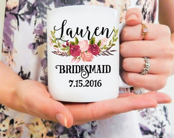 Bridesmaid Mug | Personalized Bridemaids Mug, Will you be my Bridesmaid, Bridesmaid Mug, Wedding Gift Ideas, Bridesmaid Coffee Mug